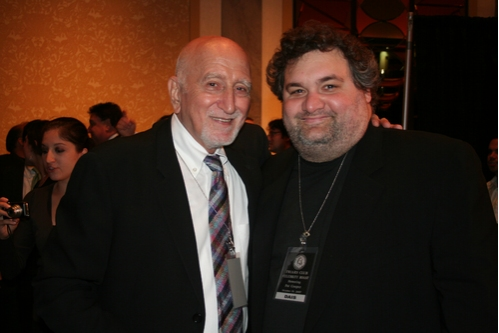 Dominic Chianese and Comedian Artie Lang (The Howard Stern Show) at Friars Club Roast Pat Cooper