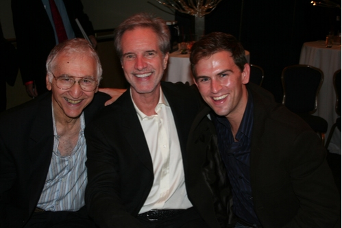 Joe Long, Bob Gaudio and Daniel Reichard at BC/EFA Jersey Boys Cocktail Reception