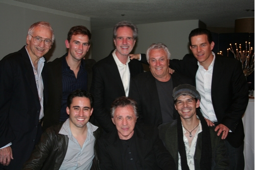 Joe Long, Daniel Reichard, Bob Gaudio, Tommy DeVito, Christian Hoff, John Lloyd Young, Frankie Valli and J. Robert Spencer
