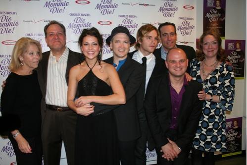 Daryl Roth, Bob Ari, Ashley Morris, Charles Busch, Van Hansis, Chris Hoch, Carl Andress and Kristine Nielsen at 'Die Mommie Die!' Opening Night