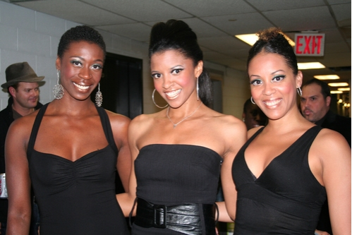 Anika Ellis, Renee Elise Goldsberry and Krisha Marcano