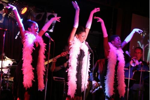 Krisha Marcano, Renee Elise Goldsberry and Anika Ellis at Rockers on Broadway in Concert