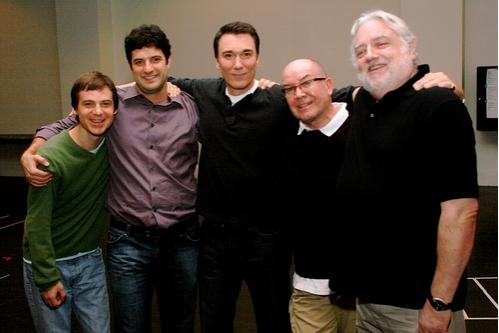 l-r: Rusty Ross, Matt August, Patrick Page, Jack O'Brien and Ed Dixon