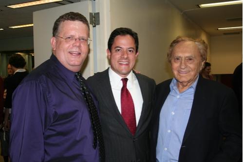 James Morgan (Producing Artistic Director), Dan Garodnick (City Council Member) and Joseph Stein (Book)