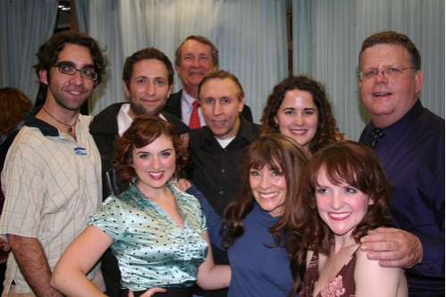 Chris Robinson (Lighting Designer), David Rossmer (Antione), David McCoy (Chairman of The York Theatre Board of Directors), Rick Crom, Elisa Spencer (General Manager), James Morgan, Jacque Carnahan, Gay Marshall and Betsy DiLellio
