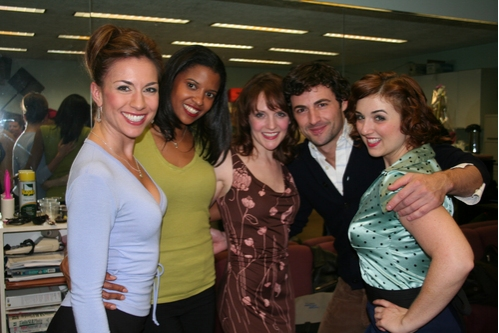 Wendi Bergamini, Reneé Elise Goldsberry, Betsy DiLellio, Max von Essen and Jacque Carnahan