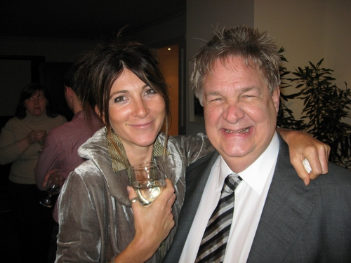 Eve Best (Ruth) and Albert Poland (General Manager)