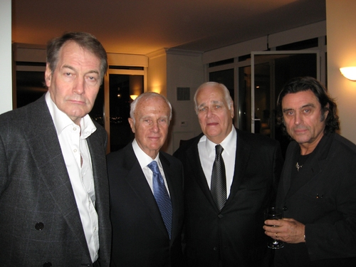 Charlie Rose, producers Jerry Frankel and Ronald Frankel, and Ian McShane (Max)