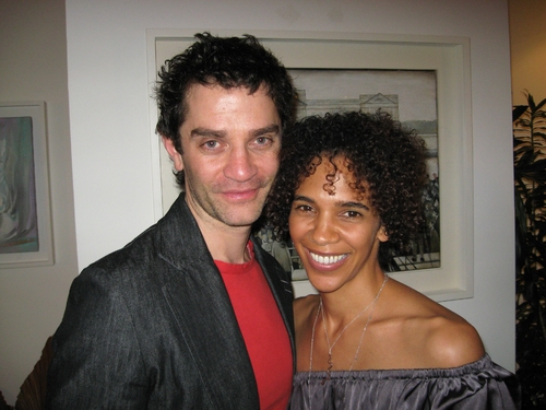 James Frain (Teddy) and wife, actress Marta Cunningham