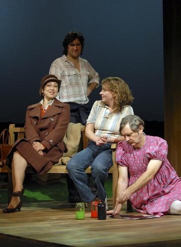 Nicola Walker (Betty), Bo Poraj (Edward), Sophie Stanton (Lin) and Jame Fleet (Cathy)