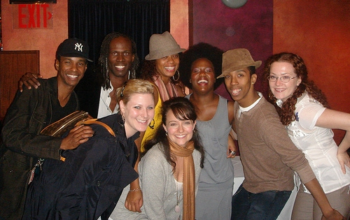rear, from left: Tevin Cambell, Terry Lavell, Jackie Arnold, Anastacia McCleskey, Dwayne Cooper, Katie Smith; front: Beth Frank, Niki Scalera