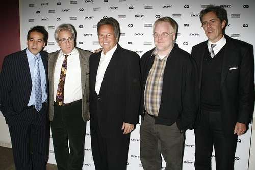 John Ortiz, John Gould Rubin, Mark Webber, Philip Seymour Hoffman and Peter Hunsinger at LAByrinth Theatre Celebrity Charades