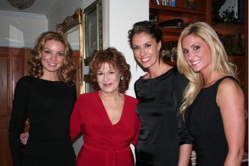 Joy Kabanuck, Joy Behar, Sara Gettelfinger and Kelly Levesque