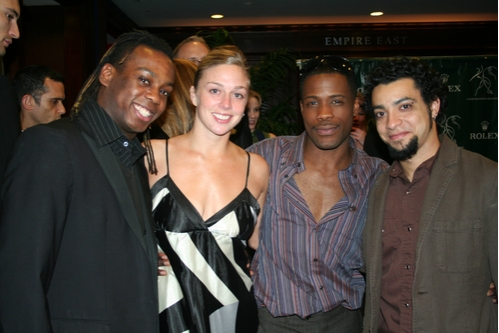 Parsons Dance Company Members; Tommy Scrivens, Abby Silva, Kevin Ferguson and Miguel Quinones