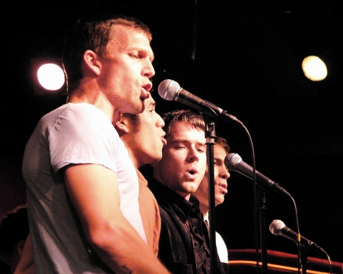 Jarrod Emick, Adam Jacobs, Christian Campbell and Dave Barrus