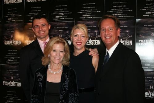 Bill Fennelley, Barbara Olcott, Kelly Devine (Choreographer) and Douglas C. Evans