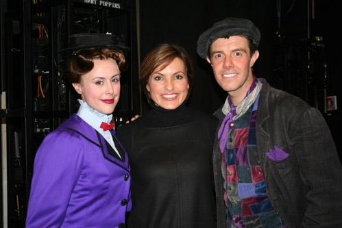 "Megan Osterhaus (Mary Poppins understudy), Mariska Hargitay (""Law and Order: SVU"") and Gavin Lee (Bert)"