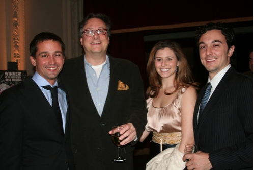Robert Aherns, Douglas Carter Beane, Tara Smith and Brian Swibel at NYMF Awards Gala