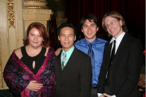 Book Writer and Co-Lyricist Michelle Elliott (NYMF The Yellow Wood, B.D. Wong, Composer and Co-Lyricist Danny Larsen (NYMF 2007 Award for Excellence in Music The Yellow Wood) and Composer Jared Dembowski (Sherlock Holmes; The Early Years)