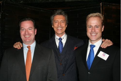 Steve Barnes, Tommy Tune and Glenn Connolly at Only Make Believe Benefit