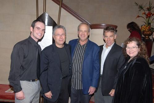 l-r: Cason Murphy, Alan Menken, Bruce Kimmel, Stephen Schwartz and Joanna Erdos
