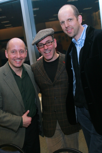 Steven Sorrentino (B&N Director Special Events), Ricky Ian Gordon and Jeff Blumenkrantz