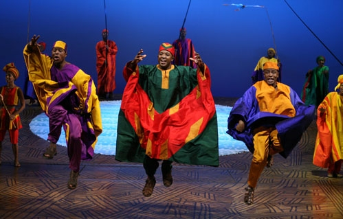 Disney's The Lion King cast members S'Bu Ngema, Bongi Duma and original Broadway cast member Ron Kunene