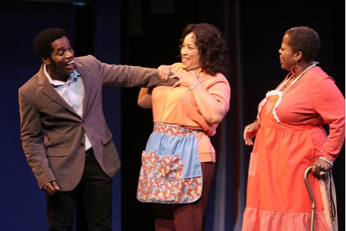 Ty Taylor as Joe Hardy, Jackée Harry as Sister,and Lillias White as Dory