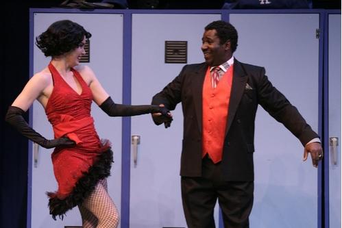 Meg Gillentine as Lola and Cleavant Derricks as Applegate at 'Damn Yankees' at LA Reprise!