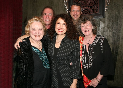 Smithsonian honoree/inductee Rose Marie and Melissa Manchester with the Actors Fund representatives David Michaels (Director of Special Events), Keith McNutt (WR Director) and Jomarie Ward (National Trustee and Chairman of Western Council)