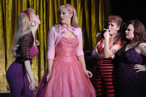 Lacey Kohl (Wanda), Elizabeth Stanley, Cristen Paige (Mona) and Carly Jibson (Pepper)