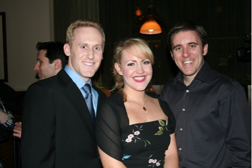 Jake Pfarr (Ensemble), Erin Henry (Lucille Ballard) and Dennis O'Bannion (Ensemble) at 'Meet Me in St. Louis' Opening Night at Paper Mill