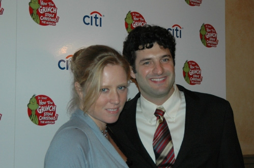 Matt August and his fiancee Amy Redford