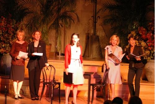 Jill Eikenberry, Kaitlin Hopkins, Emily Shoolin, Kelly Sullivan and Trisha Rapier