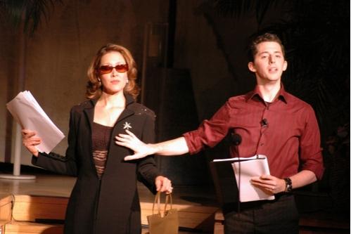 Kaitlin Hopkins and Josh Grisetti
