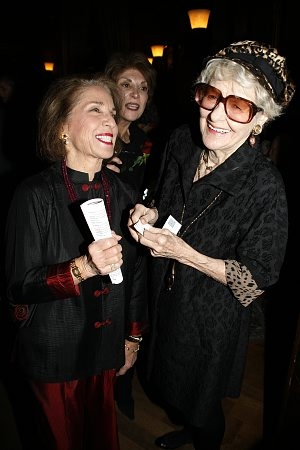 Dasha Epstein and Elaine Stritch at Primary Stages Cocktails for Roth & O'Brien