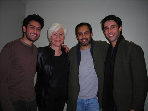 Sanjit De Silva, Olympia Dukakis, Rajesh Bose and Rafi Silver