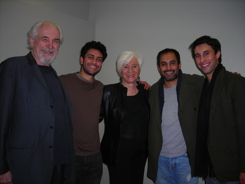 Louis Zorich, Sanjit De Silva, Olympia Dukakis, Rajesh Bose and Rafi Silver