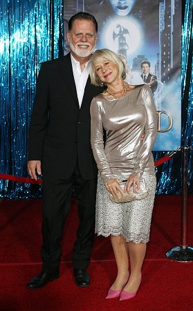 Taylor Hackford and Helen Mirren at 'Enchanted' World Premiere
