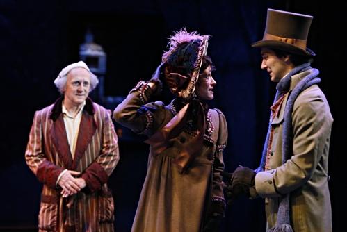 Raye Birk, Elizabeth Stahlmann (Belle) and Hugh Kennedy (Young Ebenezer)