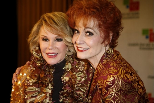 Joan Rivers and Carol Lawrence
