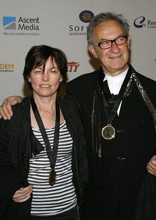 Claire Beavan and Simon Schama of the UK