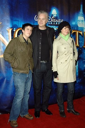 Tim Robbins with children Miles and Eva Amurri