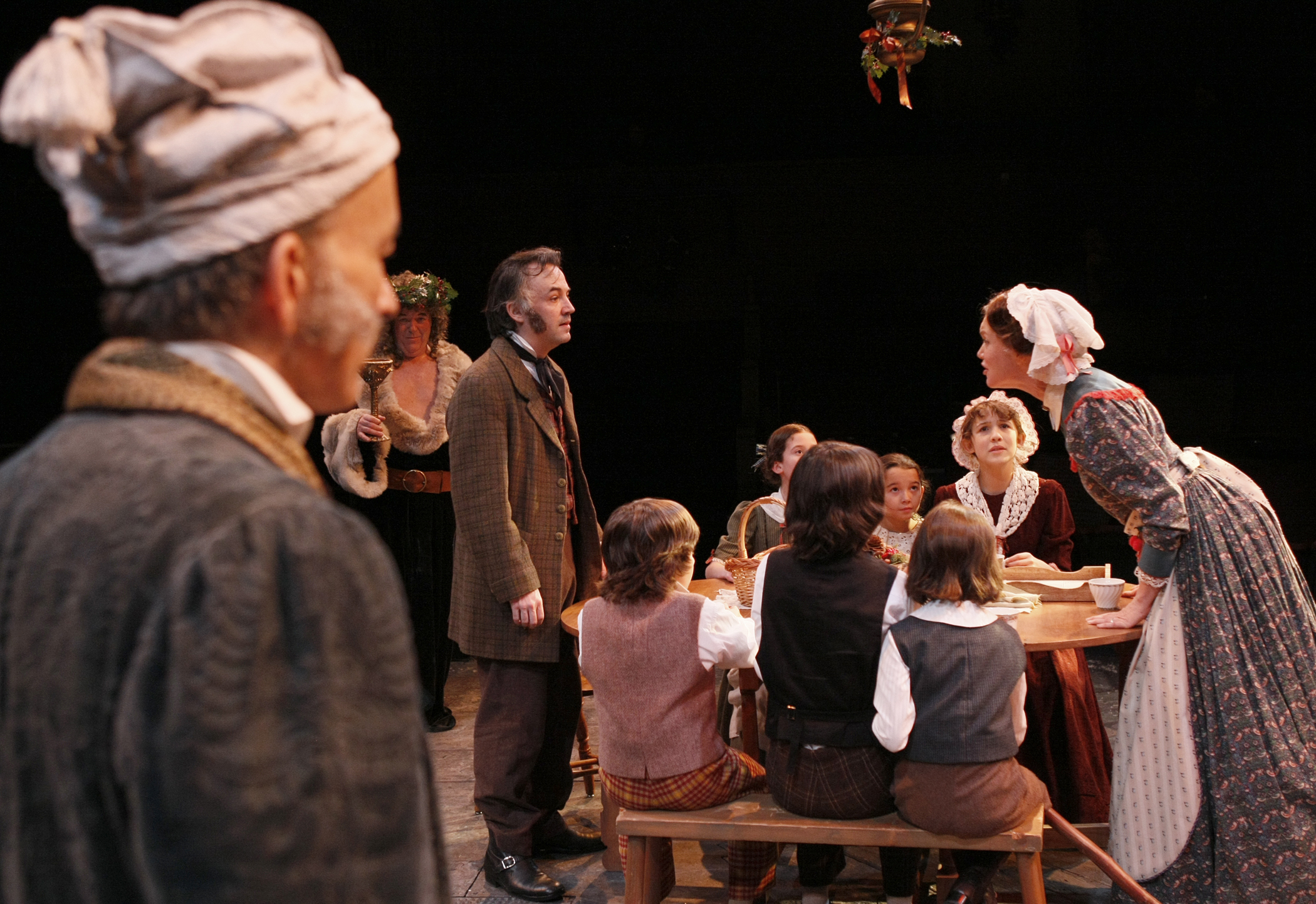 The Spirit Of Christmas Cast.David Pichette As Scrooge Richard Ziman As Spirit 2 And