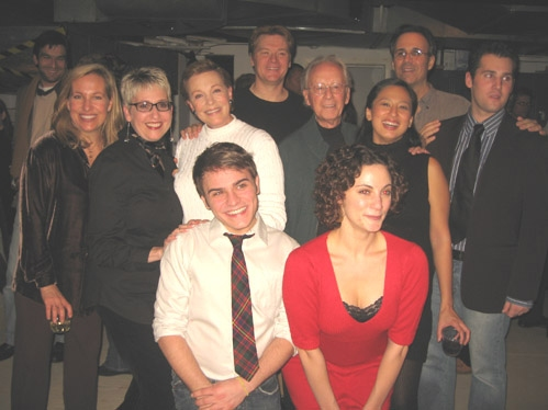 The cast with Emma Walton Hamiton, Julie Andrews, John Buccchino, Ian Fraser, Marcia Milgrom Dodge