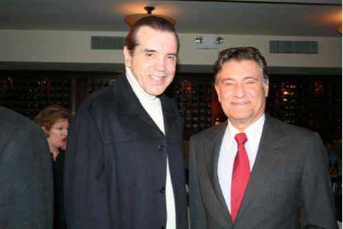 Owner of Tony DiNapoli NYC Restaurants Herb Wetson welcomes Chazz Palminteri to his portrait unveiling
