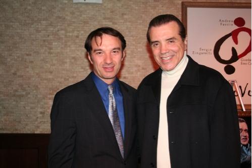Ilir Rizaj and Chaz Palminteri  Photo