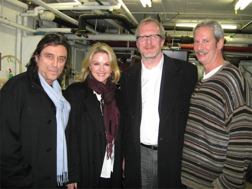 Ian McShane, Gwen McShane, Tracy Letts (Playwright) and Troy West Photo