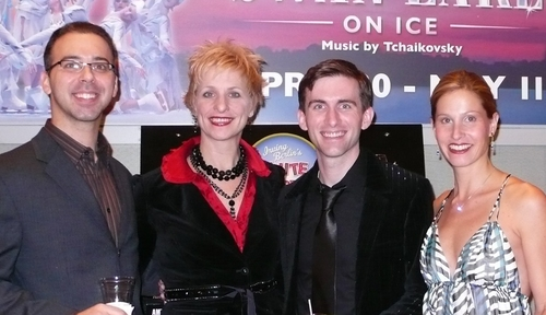 l-r: Andrew Black, Kelli Barclay (Assoc. Choreographer), Matthew J. Kilgore and Amy Burnette