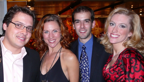 l-r: David Ruttura (Assistant Director), Kristen Gaetz, Marc Bruni (Associate Director) and Jacqueline Bayne